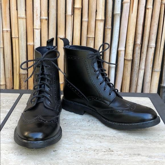 d2f82b0da5fa Black Leather Oxford Lace-up Boots - Mens Size 11.  M 5a6ba4c49d20f01e9451e764